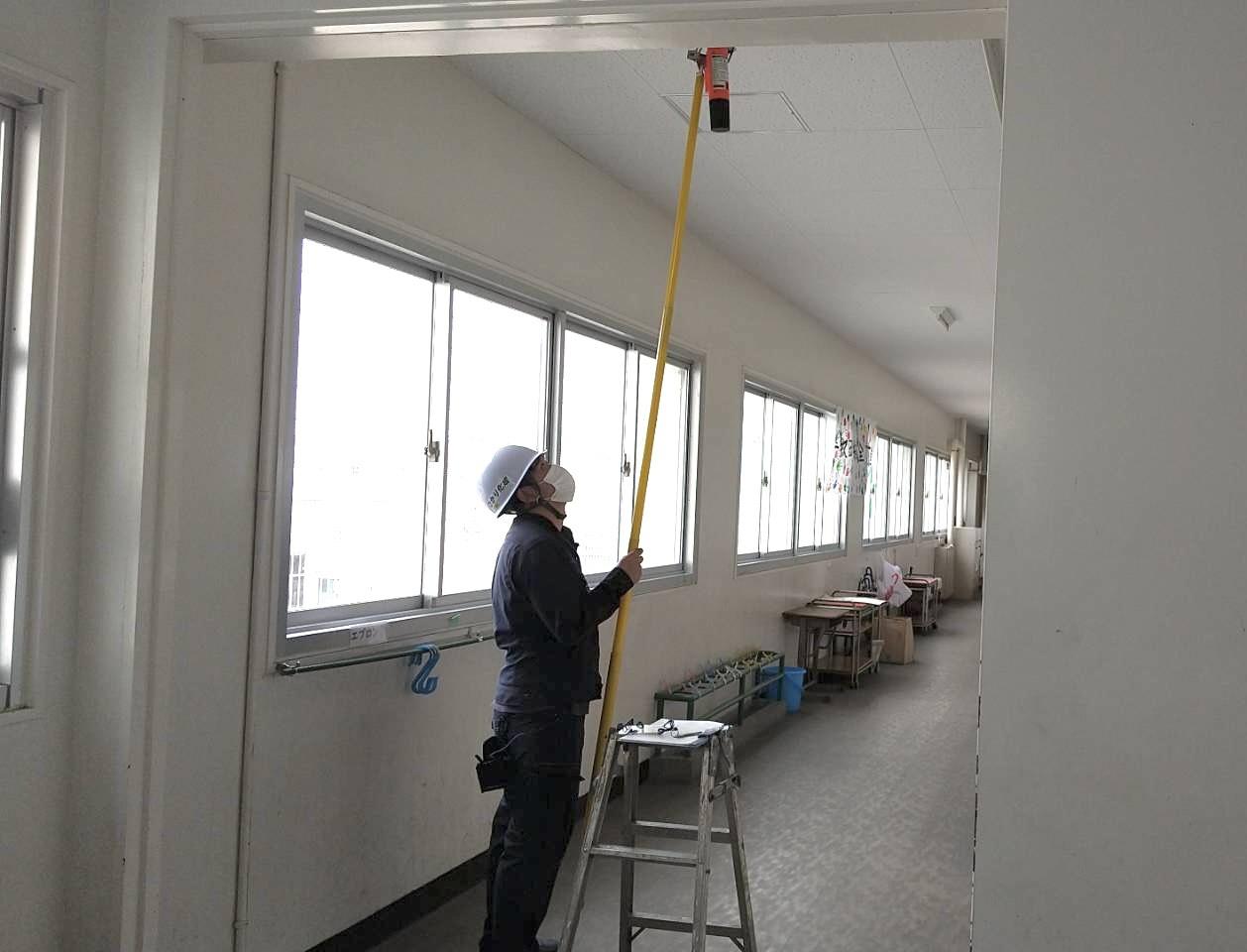 法令に定められた点検を実施!【防火設備点検/某市小中学校 全24校】